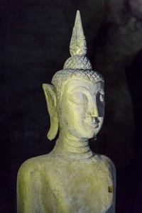 LC_0356: Laos - Statue's head in Luang Prabang