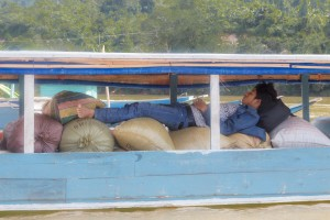 LC_0268: Laos - Nap on the boat