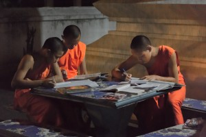 LC_0381: Laos - Monks' study