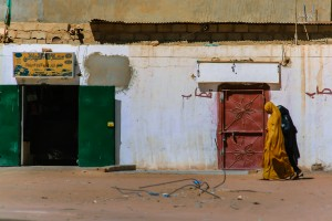 AC_0467: Lybian Sahara - Women in a village