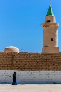 AC_0470: Libyan Sahara - Woman in a village