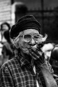 DB_1479: Myanmar - Old woman in Yangoon