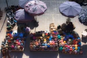 KA_1643: Morocco - Sellers of wool in Marrakech