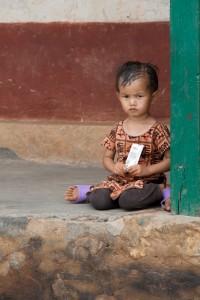 NE_0733: Nepal - Child in a village