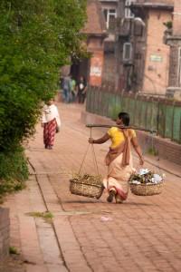 NE_0905: Nepal - Scene of urban life