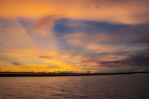 TA_2962: Mali - African sunset on Niger river